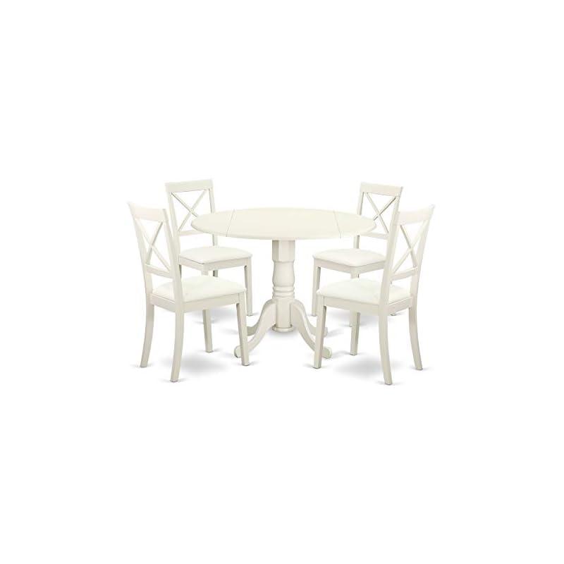 East West Furniture DLBO5-LWH-LC Dublin
