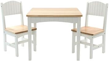Xl Kindersitzgruppe Celine Weiss Natur Bestehend Aus Tisch 2 Stühle Kindermöbelset Kindermöbel Kindertisch Spielecke