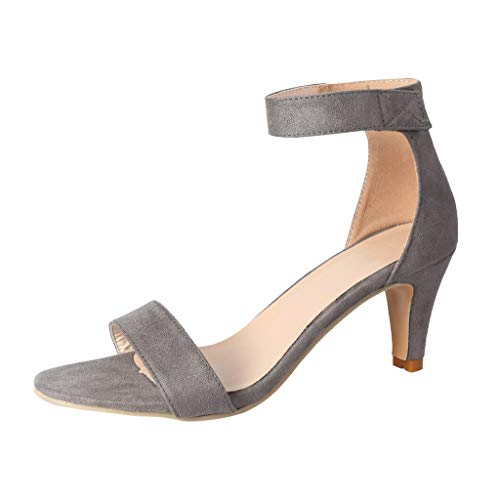 FengGa Thin High Heels Sandals Women's Summer Ankle Strap Ladies Pumps Wedding Party Evening Roman Shoes -