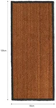 LOFT 1850 Double doormat with Charcoal Border - Hall way Runner W 125 x D 55cm