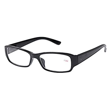 Black Frame Shortsighted Myopia Distance Glasses -1.50 Strength **These are not reading glasses** by Southern Seas