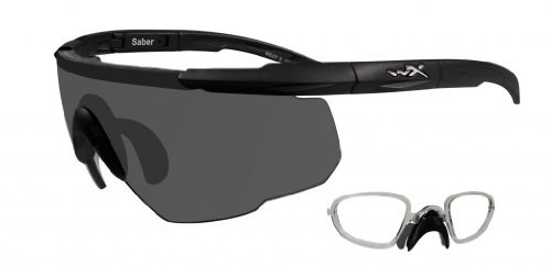 Prescription X Wiley Lenses (Wiley X Saber Advanced Sunglasses - Smoke Grey Lens - Matte Black Frame w/Rx Insert)