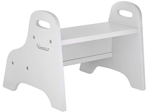 Kindsgut gradino in legno rialzo per bambini sgabello per bagno o