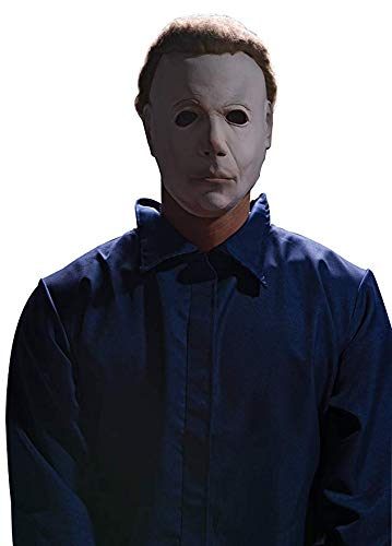Rubie's Halloween Movie Michael Myers Mask With Wig, White, One Size