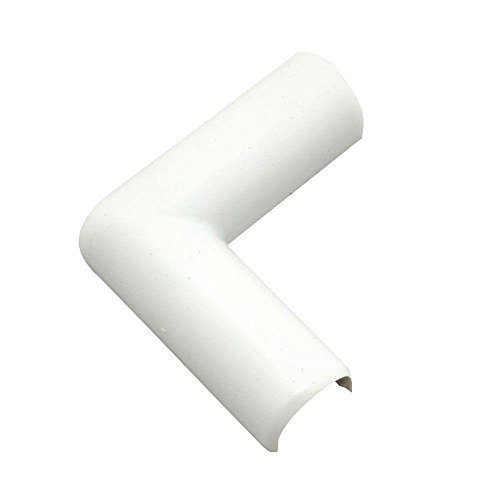 Legrand - Wiremold Company C16 Plastic Flat Elbow Cord Cover, White