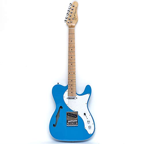 Grote Electric Guitar Blue 6 String Single F-Hole