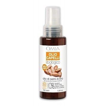 Olio capelli olio di semi di Lino Omia Laboratoires: Amazon.it ...