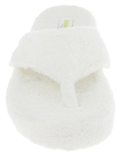 Capelli New York Dames Micro Confortables Chaussons Dintérieur Blanc