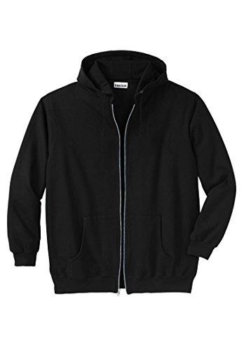 - KingSize Men's Big & Tall Fleece Zip-Front Hoodie, Black Big-4Xl