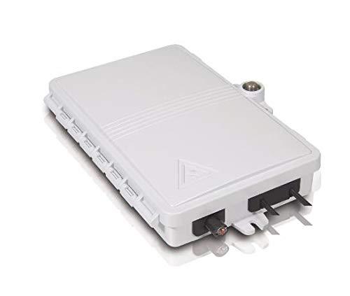 ODN FTTH 2 cores Fiber Termination Box 2 Ports 2 Channels Fiber Socket Splitter Box Indoor Outdoor Fiber Optical