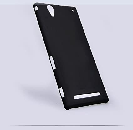 big sale 38c4e 80c2f Case Designer Ultra Matte Smooth Rubber Finish Back Cover for Sony Xperia  T2 (Black)