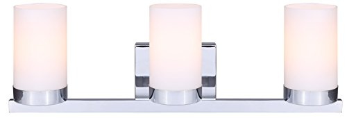 Canarm IVL429A03CH Milo 3-Light Bath Vanity, -