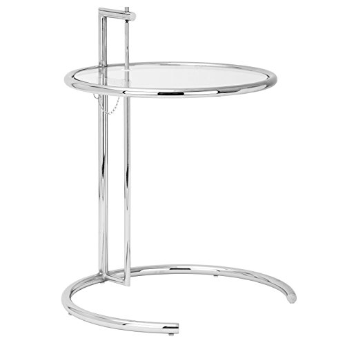 Eileen Gray Designs - Poly and Bark Eileen Gray Side Table, Silver
