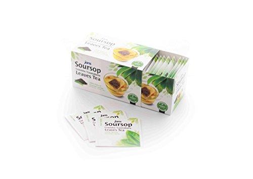 Jans 100% All Natural Soursop Graviola/Guanabana Leaves Tea (25 tea bags)