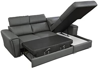 Amazon.com: Sofá cama seccional de piel Tropic, esquina ...