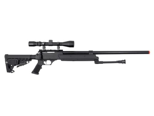 WELL Heavy Weight Spring Sniper Rifle with Scope and - Airsoft Well