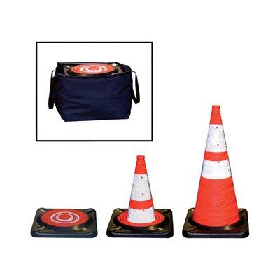 Dicke Safety Products CC5B Collapsible Cone with Storage Bag, 28'' (Pack of 5) by Dicke Safety Products