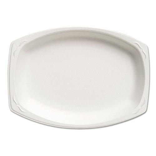 Genpak 87900 7-Inch by 9-Inch Size White Color Celebrity Dinnerware Foam Platter 125-Pack (Case of 4) by Genpak