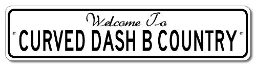 Oldsmobile Curved Dash B - Welcome to Car Country Sign - Aluminum 4