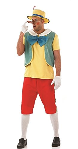 Pinocchio Puppet Book Week Male Fancy Dress Costume - L (Chest 42-44