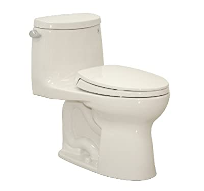 TOTO MS604114CEFG#11 Ultramax II Het Double Cyclone One Piece Elongated Toilet with Sanagloss, Colonial White