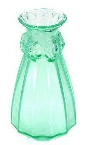 Amazon com: Lalique #12593 Carnations Vase Green: Home & Kitchen