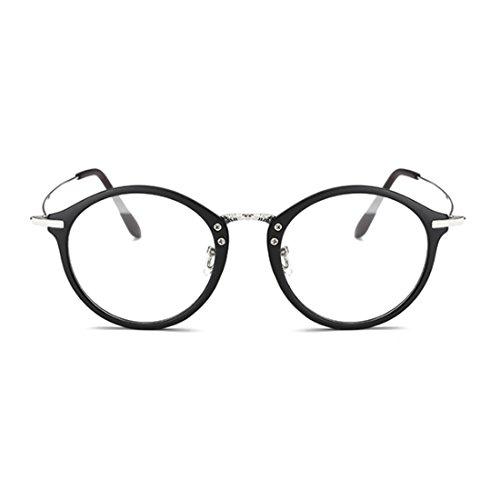 Huicai lunettes Noir Lunettes Frame Mode Sable Femme lentilles myopie Round métal cadre Rétro Homme de résine 8r8Owqgtx