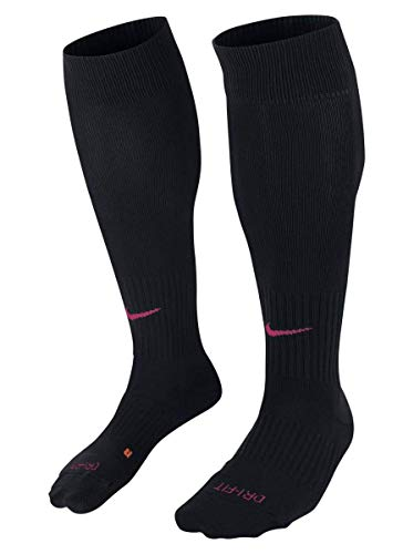 Nike Classic II Cushion Over-the-Calf Socks Black/Vivid Pink Knee High Socks Shoes