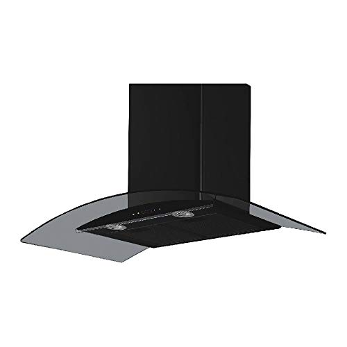 MODA Germany KURVE 90 1180 m3/h With 8 mm Curved Glass Kitchen Chimney (2D German Technology, 3 Speed Push Button Controlled, Powerful Italian Motor) (90 cm)