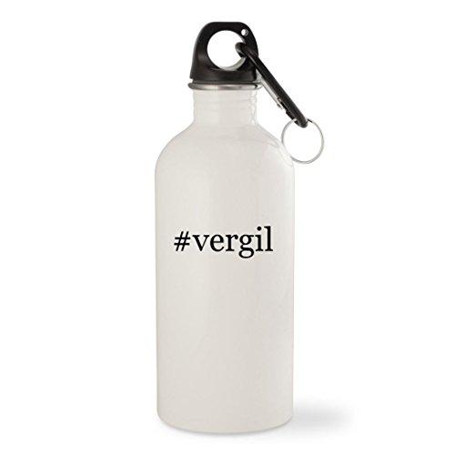 Otis Costume (#vergil - White Hashtag 20oz Stainless Steel Water Bottle with Carabiner)