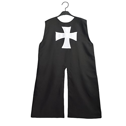 Women's Medieval Clothing - BLESSUME Medieval Hospitaller Knight Tunic Black