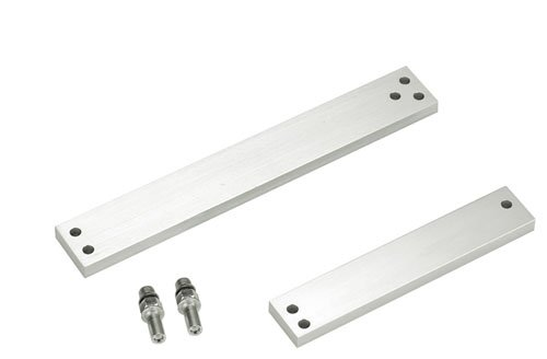 Securitron Aluminum Shim Bracket for M82 Magnalock Electromagnetic Lock, 12'' Length, Clear Anodized Finish by Securitron