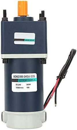 ZJN-JN 減速ギアモーター、24V 300W 3300 RPMの15ミリメートルシャフトの高ねじり永久磁石DC溶接機機器産業用ギヤードメタルギアモーター(1000rpmで) 工業用モータ