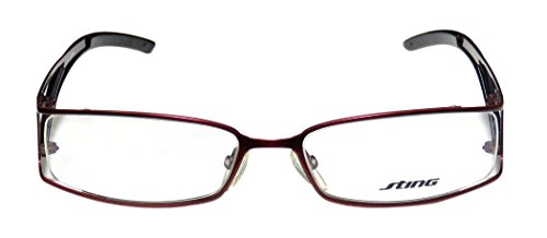 Sting 4701 Mens/Womens Designer Full-rim Eyeglasses/Eyeglass Frame (54-17-135, Bordeaux / Black / ) (Yellow Cat Costume Contact Lenses)