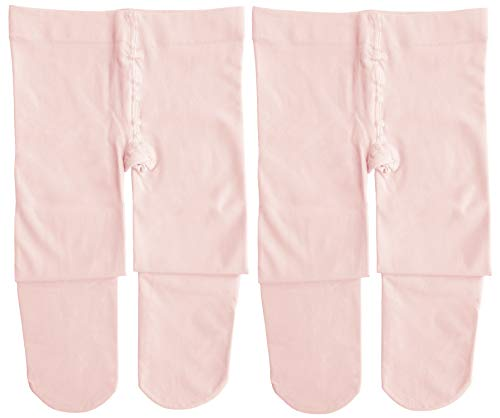 Dancina Dance Tights Girls Ballerina Costume Pretty Matching Soft Stockings M (6-8) Ballet Pink x2