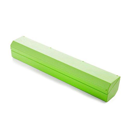 Plastic Wrap Cutter, Pawaca Food Freshness Wrap Dispenser, Foil and Cling Film Cutter Plastic Storage Holder Kitchen (Roll Film Holder)