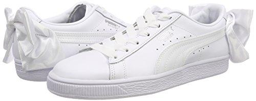 Blanco White Puma Bow puma Mujer Para Wn's Basket Zapatillas White puma RvYpR