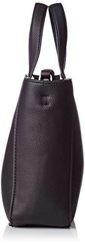 Calvin Klein Olivia Mini Tote - Bolso de asas de Piel para mujer Noir (Black)