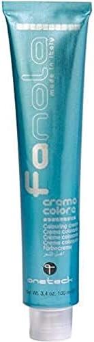 Fanola Tinte 6.11 Rubio oscuro ceniza intenso 100 mL - Tinte crema colorante permanente para el cabello pelo - Color uniforme y brillante - ...