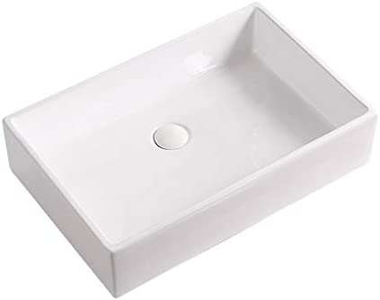 BoPin 3つのサイズで利用できる浴室洗面台、矩形のセラミックカウンター流域ホームシンク技術の単一流域(タップ無し) ベッセルシンクシンク (Size : 50X40X15cm)