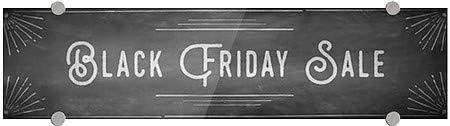 24x6 Chalk Corner Premium Brushed Aluminum Sign Black Friday Sale 5-Pack CGSignLab