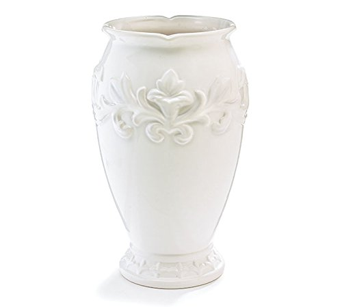 - Burton & Burton 9731795 Embossed Victorian White Ceramic Vase Childrens Party Activities