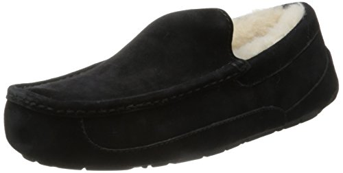 UGG Australia Men's Ascot Slippers Black Suede Size 9