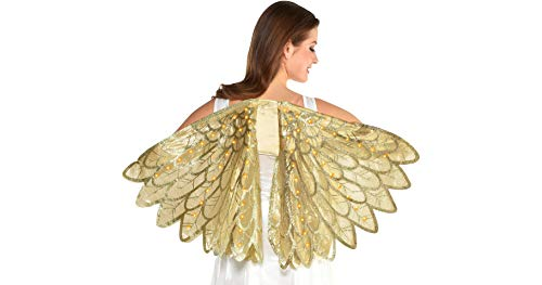 Amscan Light-Up Gold Wings Halloween Costume Accessories for Women, One Size for $<!--$29.99-->