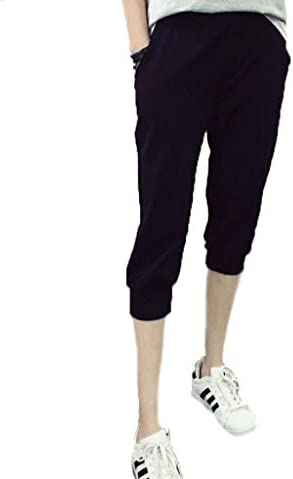 動きやすい 七分丈 スウェット クロップド パンツ イージー パンツ ズボン ヨガ ウェア ダンス スポーツ 部屋着レディース