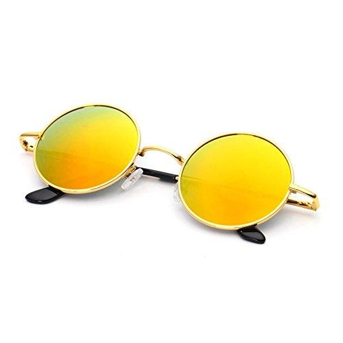 Gafas conducción personalidad del de sol de 9cm vendimia de Gafas del de conductor sol Gafas la la marco reflexivas 13 de de los redondo 9x13 de D Tamaño redondos hombres D MX sol Color xwa8RRS