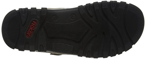 Rieker 25084 Sandals-Men Herren Sandalen Braun (zimt/schwarz / 24)