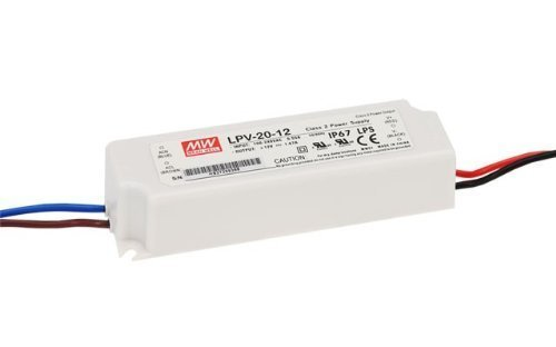 Mean Well LPV-20-12 90-264 VAC Input 20-watt 1.67-Amp USA LED Driver with 12 VDC Output