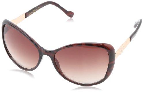 Jessica Simpson Women's J5077 TS Cat Eye Sunglasses,Tortoise,51 - Eye Cat Sunglasses 2014