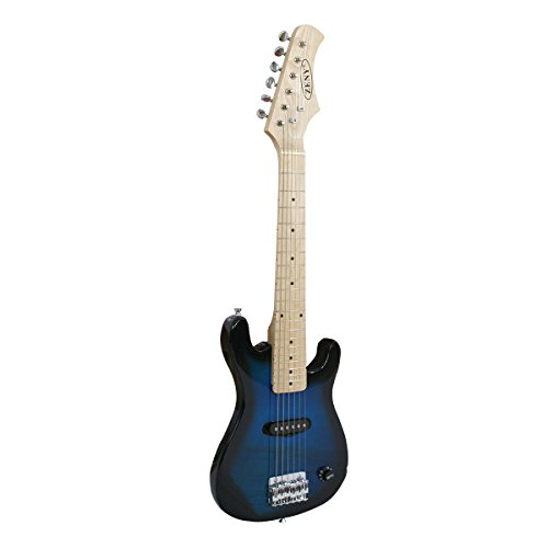 zeny blue 30 inch kids electric guitar with 5w amp cable cord shoulder strap new blue buy. Black Bedroom Furniture Sets. Home Design Ideas
